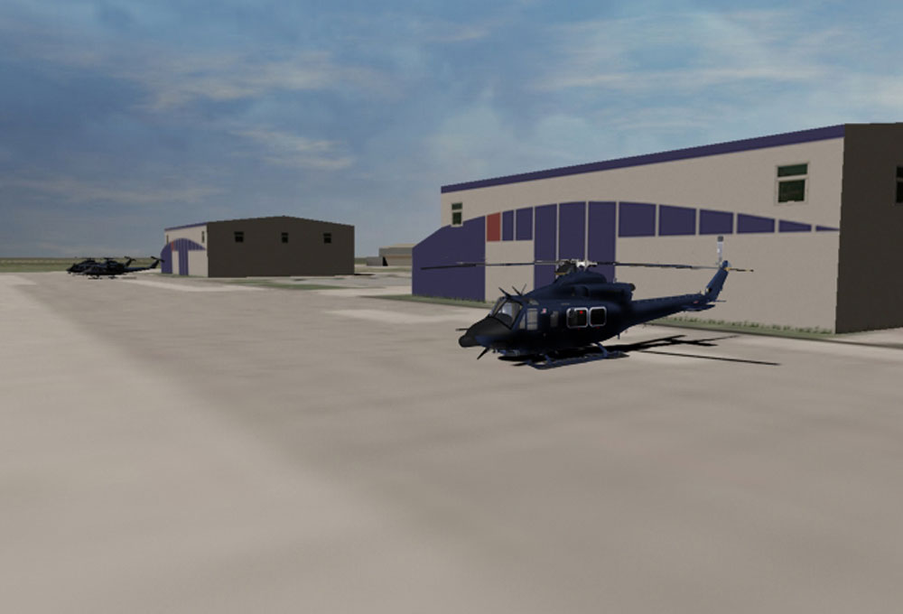 Bell 412 Helicopter Model Render