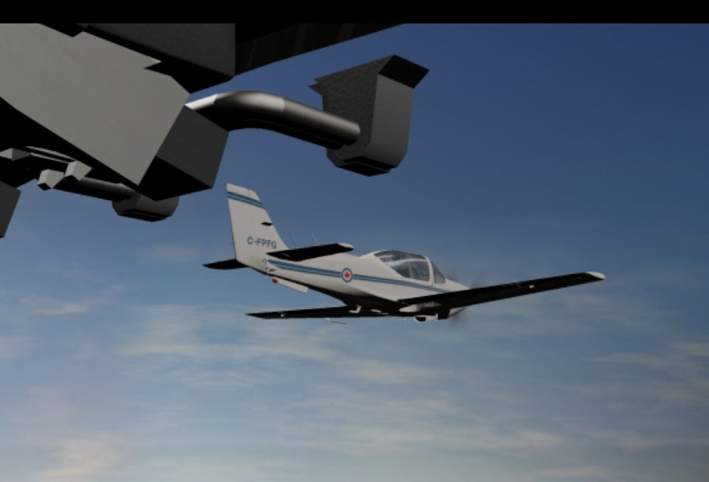 GROB Aircraft Model Render and Animation